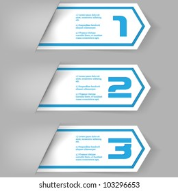 eps10 vector numbered banner template