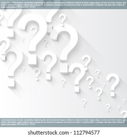 eps10 vector random white 3d question marks background