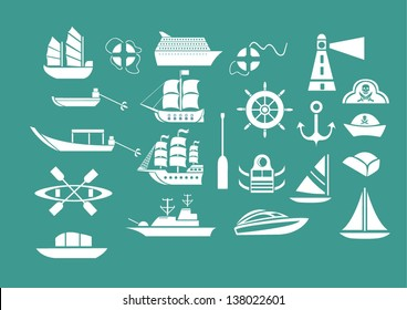 [EPS10] Vector Set: Graphic Icons set: Ship and boat icons