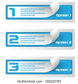 eps10 vector set of numbered banner stickers concept design