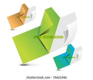 eps10 vector set of paper icon