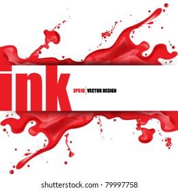 eps10 vector splattered ink concept design