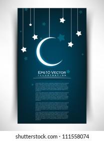 eps10 vector star moon illustration