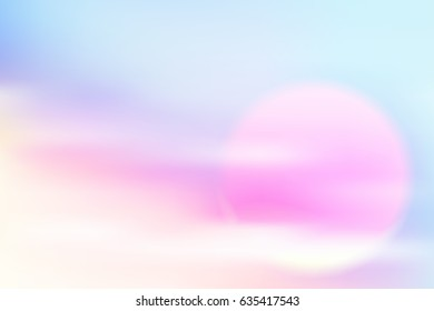 eps10 vector sunrise soft, vector blur illustration sweet color filter abstract for background. use gradient mesh and hard light