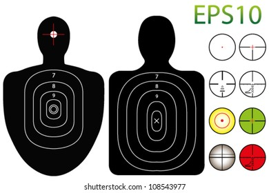 EPS10 Vector Targets with a Selection of Recticles