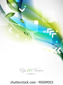 eps10 vector two color design with leaf and arrow elements