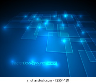 EPS10 - Virtual Technology Vector Background