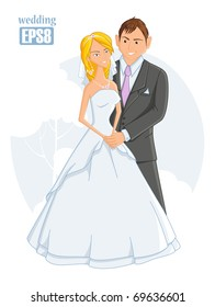 eps8, wedding, vector illustration