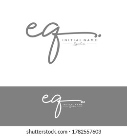 EQ Initial letter handwriting and signature logo.
