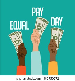 Equal pay day design. EPS 10 vector.