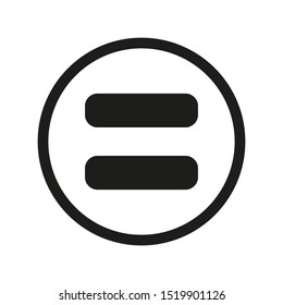 equal sign. flat style. equal icon illustration isolated on white background. equal icon for graphic design, Web site, UI. math symbols glyph icon.
