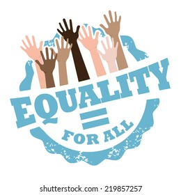 Equality for all stamp EPS 10 vector
