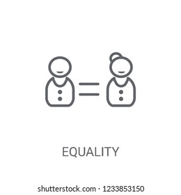 Equality icon. Trendy Equality logo concept on white background from Political collection. Suitable for use on web apps, mobile apps and print media.