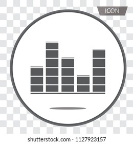 Equalizer scale icon vector, sound wave music icon isolated on transparent background.