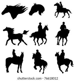 equestrian clip-art