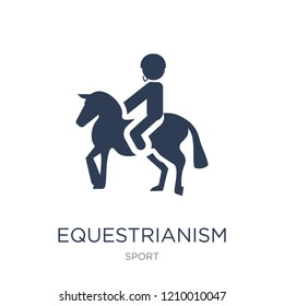 equestrianism icon. Trendy flat vector equestrianism icon on white background from sport collection, vector illustration can be use for web and mobile, eps10 - Shutterstock ID 1210010047