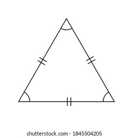 Equilateral triangles on a white background