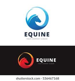 Equine logo template. Horse Symbol.