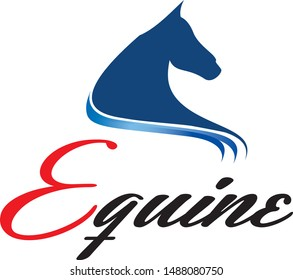 Equine therapy symbol with horse