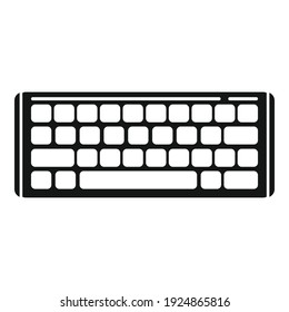 Equipment keyboard icon. Simple illustration of equipment keyboard vector icon for web design isolated on white background