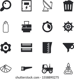equipment vector icon set such as: farming, bottleneck, strength, heat, view, interval, satellite, close, workplace, broadcasting, fax, wires, broadcast, hot, isometric, end, punching, fit