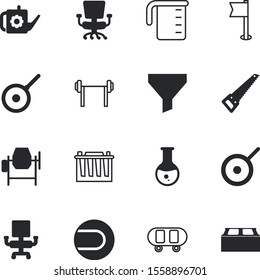 equipment vector icon set such as: farming, horticulture, can, strong, skater, professional, bottleneck, dumbell, wall, decoration, charge, american, regular, volt, vehicle, blade, electrical, drug