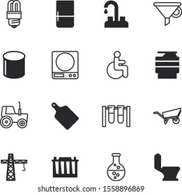 equipment vector icon set such as: silhouette, droplet, door, wood, farming, spout, knob, bottleneck, scientist, patient, accumulator, people, protection, pipeline, green, weighing, mass, scales