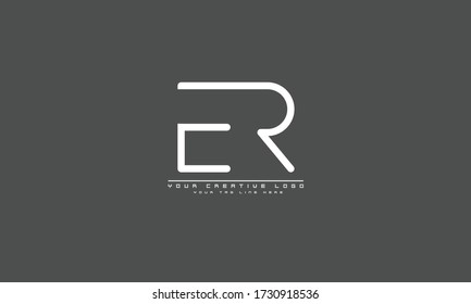ER RE abstract vector logo monogram template