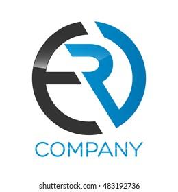 ER company linked letter logo