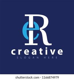 ER Initial letter logo icon vector