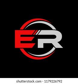 ER initial letters elegant logo, Modern Logo Design