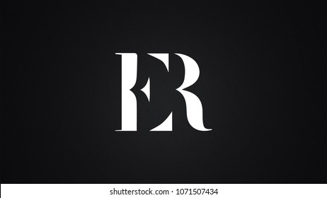 ER Letter Logo Design Template Vector