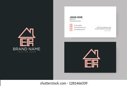 ER Letter Real Estate Logo Design - Real estate logo