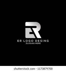 ER Logo Design Simple