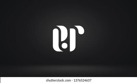 ER logo design template vector letter