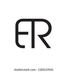 ER logo letter design