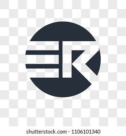 ER RE vector icon isolated on transparent background, ER RE logo concept