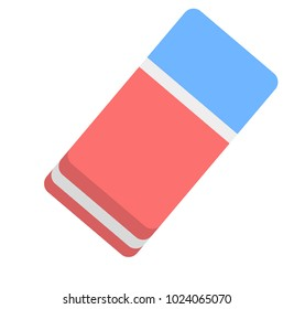 Eraser flat icon, education and school, rubber vector graphics, on a white background