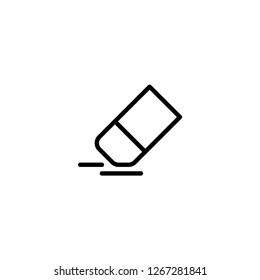 Eraser icon. Draw design sign