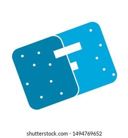 eraser icon. flat illustration of eraser - vector icon. eraser sign symbol
