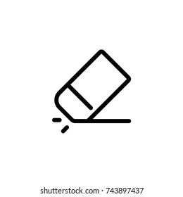 Eraser icon, Eraser icon vector, in trendy flat style isolated on white background. Eraser  icon image, Eraser  icon illustration