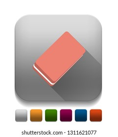 eraser With long shadow over app button