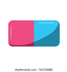 eraser with two sides icon image