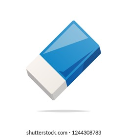 Eraser vector isolated