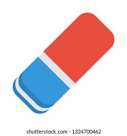 eraser/rubber flat icon.You can be used eraser/rubber icon for several purposes like: websites, UI, UX, print templates, presentation templates, promotional materials, web and mobile phone apps