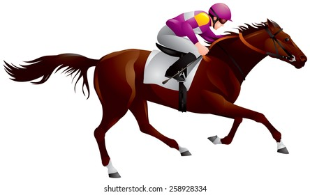 erby, Equestrian sport horse and rider in vector variant 6, Thoroughbred horse, gambling, The Sport of Kings