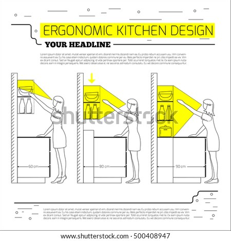 Ergonomic Kitchen Design Custom Decoration