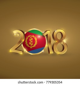 Eritrea 2018 images stock photos vectors shutterstock eritrea banner gold 2018 happy new year vector illustration m4hsunfo