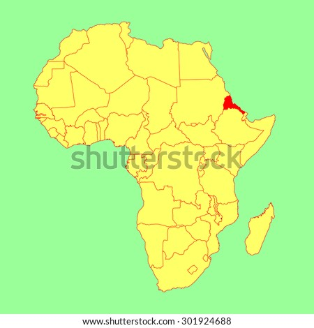Map Of Africa Eritrea.Eritrea Vector Map Isolated On Africa Stock Vector Royalty Free