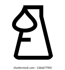 Erlenmeyer, Difficult Experiment, Hard,  Outline Style Icon Vector - Vector